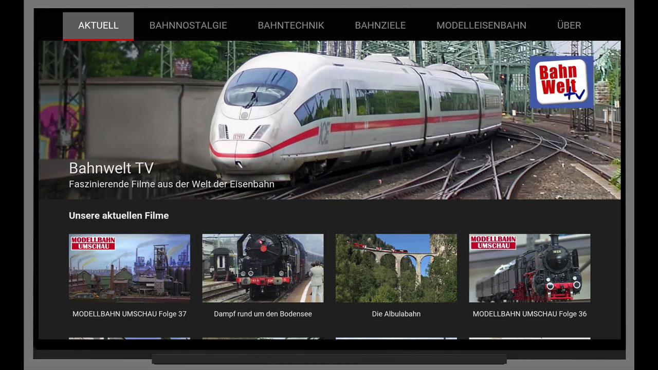 Bahnwelt TV-App für Android